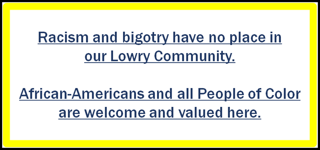 All people of color are welcome and valued in Lowry
